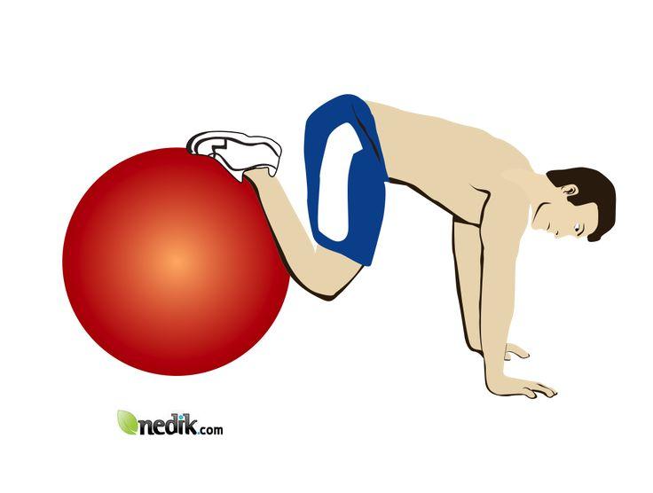 ejercicio para abdominales con pelota inflable 2