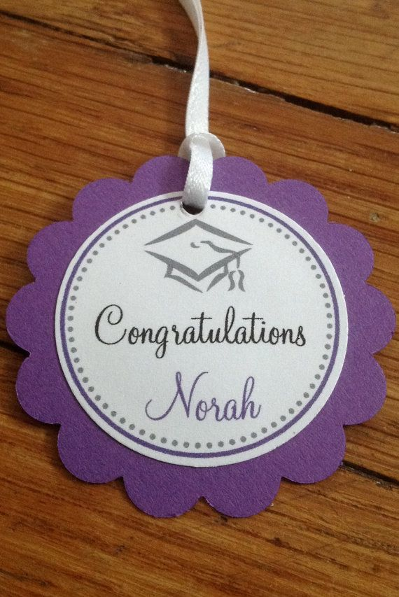 25 Tags Scallop Graduation Favor Tag with by PaperieCreations, $15.00