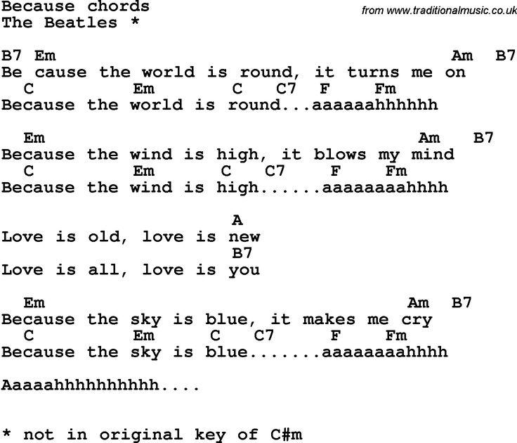 The Beatles - Because Lyrics | MetroLyrics