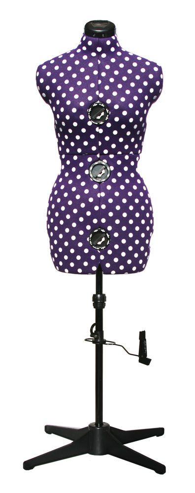 Adjustoform Purple Polka Dot 8-Part Adjustable Dressmaker's Dummy UK 16-20   Crafts, Sewing, Measuring Tools   eBay!