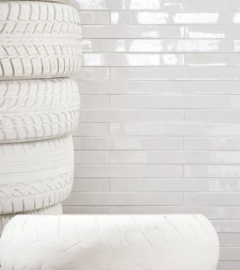 Mutina ceramiche & design | ceramica bianca in formato lungo 5,3x59,7cm