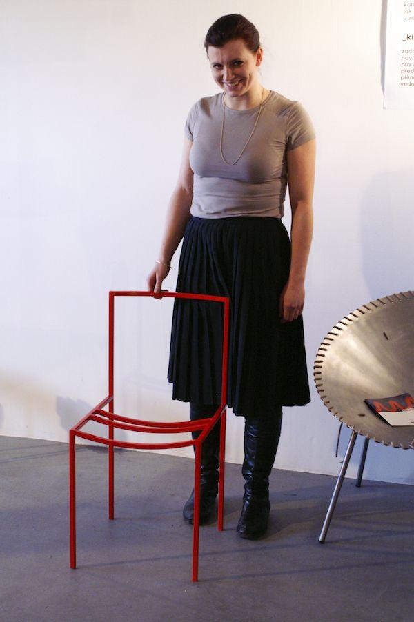Chair designed by Katerina Kucerova soho has inspired by the work of Naoto Fukasawa