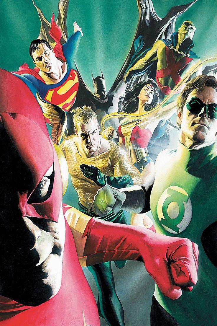 Alex Ross Justice League Wallpaper Justice League Artwork