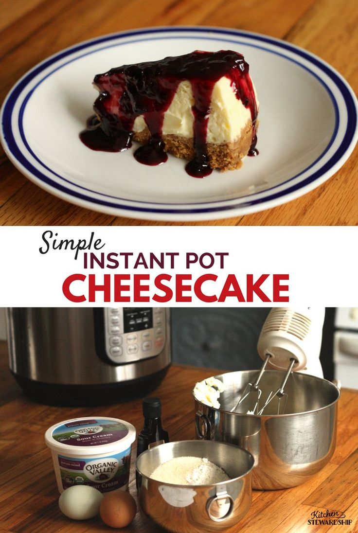 Simple and delicious cheesecake made easily in your Instant Pot. Using organic and simple ingredients this is a dessert you can feel good about indulging in! Great for Valentine's Day, Easter, birthday's or during the holidays.