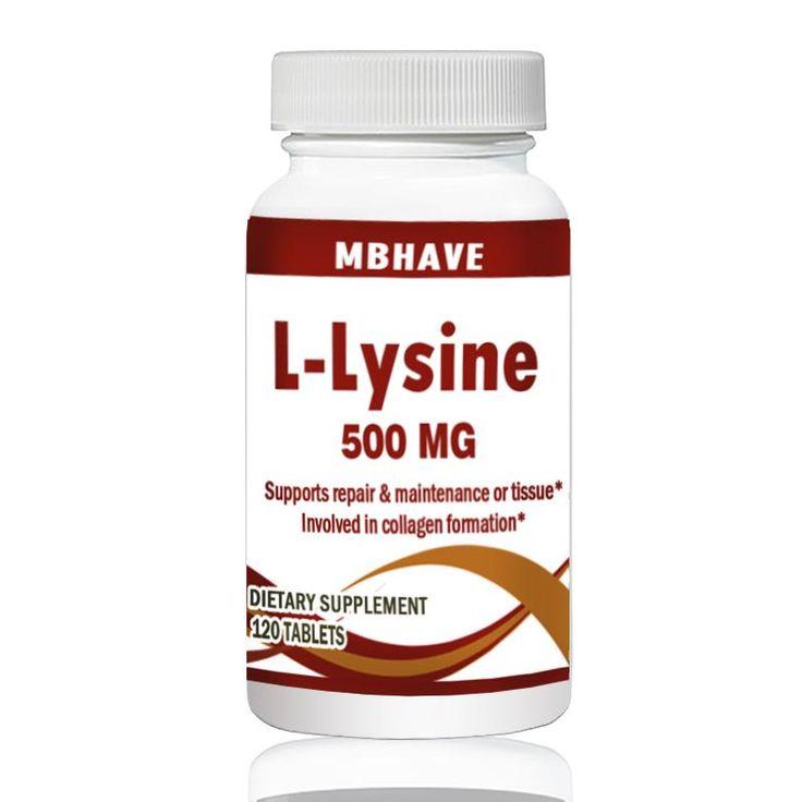 Lysine 500mg : L-Lysine Llysine Cold Health Sores Supplement
