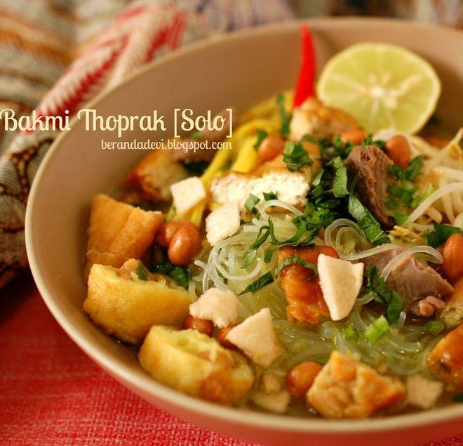 Bakmie Ketoprak  (Ketoprak noodles) from Solo, Java, Indonesia