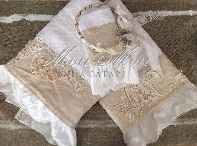 Βαμβακερά λαδόπανα και πετσέτες με μπεζ ύφασμα. Cotton ladopana and towels with beige fabric. #annapatapi #moumou2017 #vintage #romantic #Moumounewcollection #specialoccasions #childrenswear #Official #Nursery #outfit #wedding #dress #romanticweddingdress #επίσημο #παιδικό #ρούχο #γάμος #νυφικό #αγόρι #κορίτσι #boy #girl #baby #βάπτιση #βαπτιστικά #ρομαντικό #φόρεμα