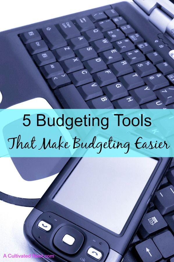 Making & sticking to a budget can be overwhelming for many people! Check out these 5 budgeting tools that make budgeting easy. YNAB, Every Dollar, online budgeting apps