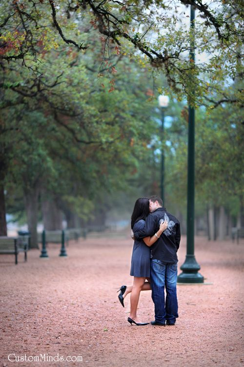 Engagement Photos On Location In Hermann Park Houston