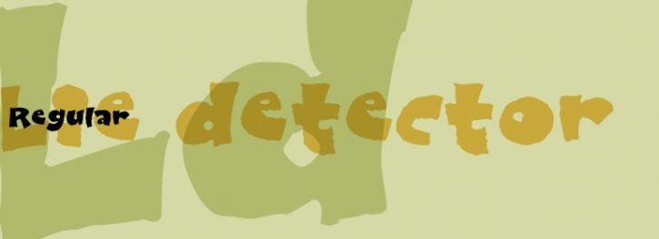 Lie detector font download