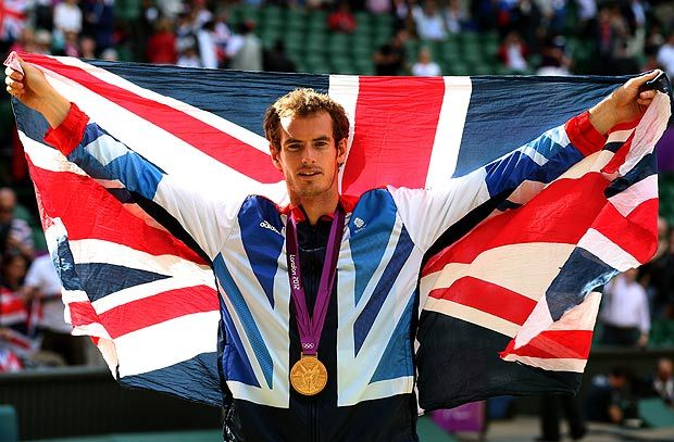 Andy Murray, British tennis player who took the world by storm and won the gold against Federer!