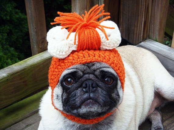 Pug Balaclava Knitting Pattern : Hilarious Knitted Hats For Your Dog Pug And Pets ...