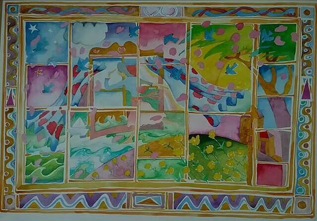 The dream. Watercolour.