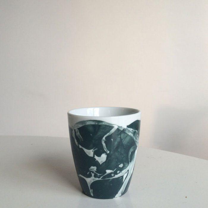 DIY: Réaliser un mug effet marbre