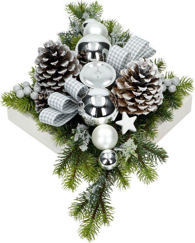 Stroik Bozonarodzeniowy Swiateczny 50cm Na Stol S4 7038894323 Oficjalne Archiwum Allegro Christmas Wreaths Holiday Decor Holiday