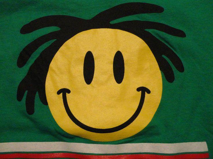 Jewish Reggae BAR MITZVAH Justin Theme Party RASTA Smiley Face T Shirt sz Large #Gildan #ShortSleeve