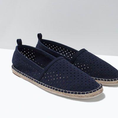 ESPADRILLES AJOURÉES EN JUTE-Mocassins-Chaussures-HOMME | ZARA France
