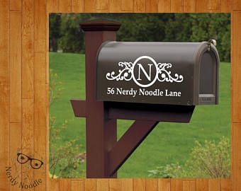 Best  Mailbox Monogram Ideas On Pinterest Country Mailbox - Custom vinyl decals for wood