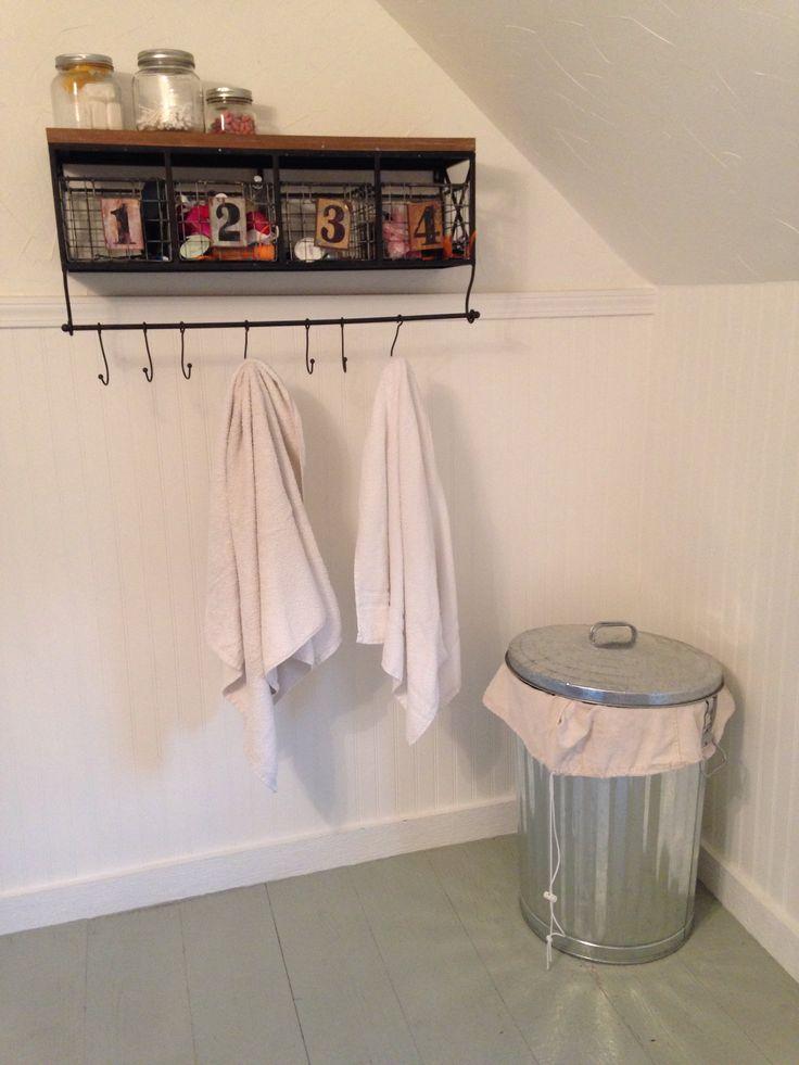 Towel rack for kids from hobby lobby trash can for for Bathroom decor hobby lobby