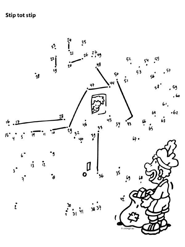 Stip tot stip Piet bij huis