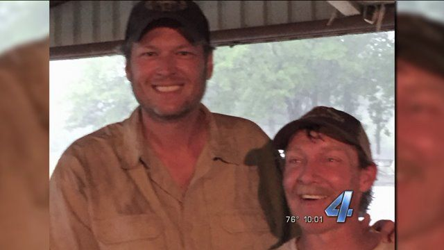 ARDMORE, Okla. -- Tropical storm Bill has left many Oklahomansstranded, but one man is home safe tonight, thanks to an Oklahoma icon. It was on country roads near Ardmore, that Blake Shelton met R...