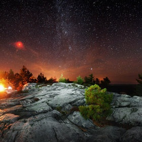 Look at those stars!! Killarney Provincial Park, Ontario, Canada. #GILOVEONTARIO