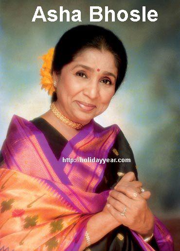Happy Birthday Asha Bhosle, Indian singer. For more famous birthdays http://holidayyear.com/birthdays/