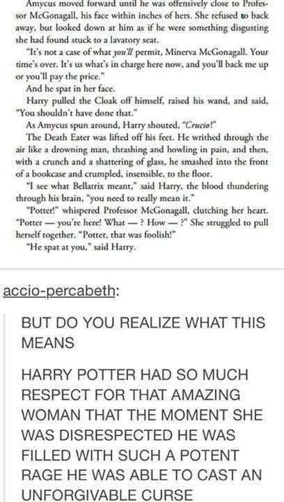 This sweet moment between Harry and McGonagall.