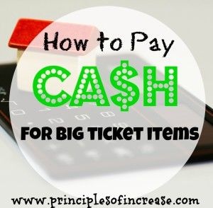 How to Pay Cash for Big Ticket Items March 12, 2015 by Aja McClanahan Leave a Comment