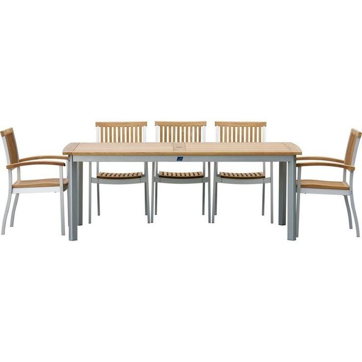 Sea Salt Premium Teak Aluminium Outdoor Table 180cm | Buy New Arrivals