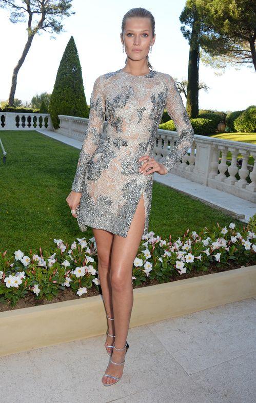 Cannes 2016 - Toni Garrn in Elie Saab haute couture - Day 9 (AmfAR Gala)