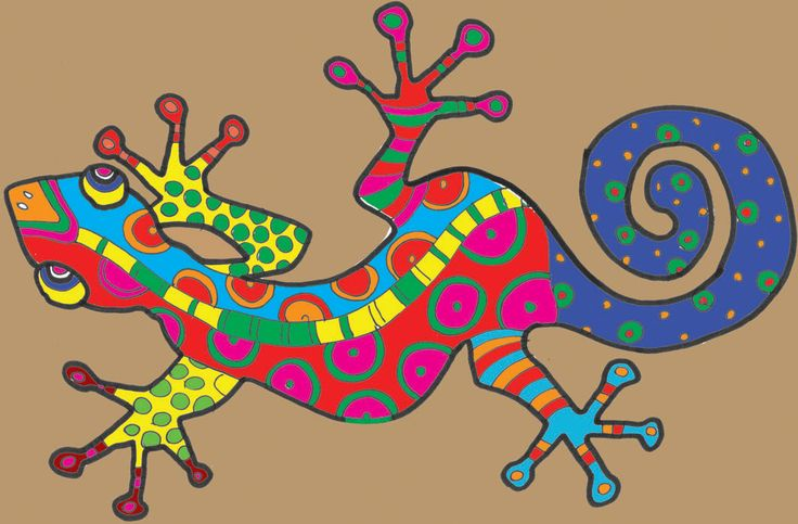 'Gorgeous Gecko' free pdf coloring activity from The ImaginationBox 'Art of Travel'