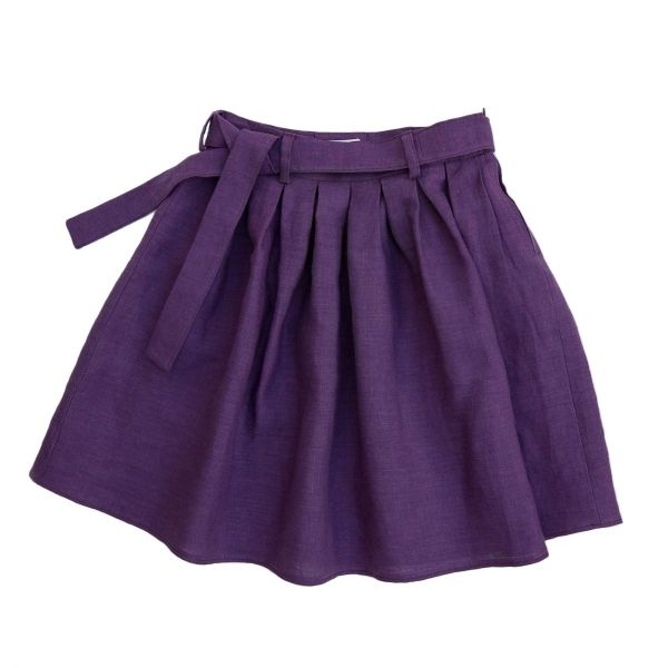Mákvirág — Tucked skirt purple
