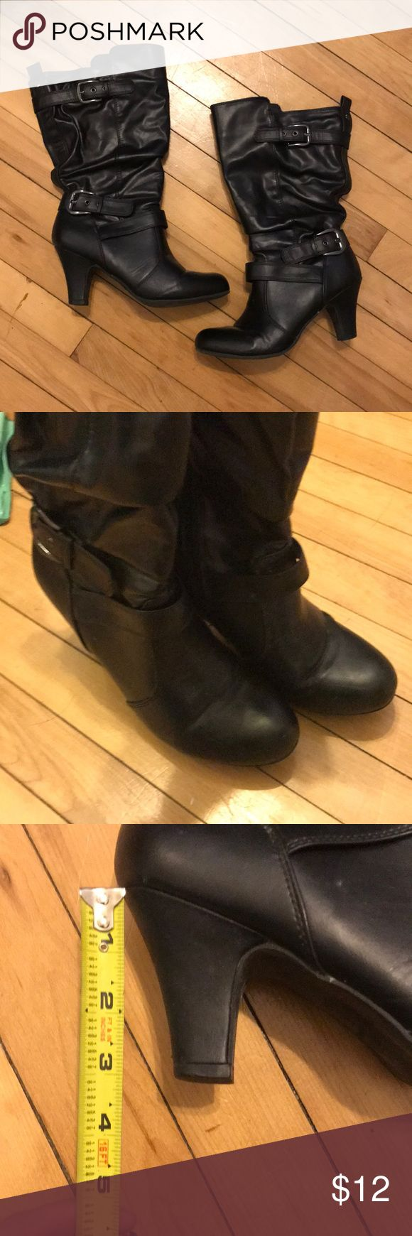 Black boots Great condition! Please make an offer! Maurices Shoes Heeled Boots