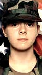 Army PFC Holly J. McGeogh, 19, of Taylor, Michigan. Died January 31, 2004, serving during Operation Iraqi Freedom. Assigned to Company A, 4th Forward Support Battalion, 4th Infantry Division (Mech), Fort Hood, Texas. Died of injuries sustained when an improvised explosive device detonated near her vehicle during combat operations in Kirkuk, Al Tamim Province, Iraq.