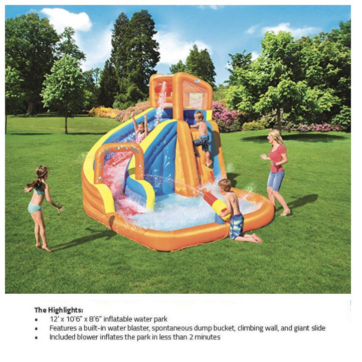 Pin By Tryazon On Bestway Splash On The Grass Party Inflatable Water Park Water Park Pool