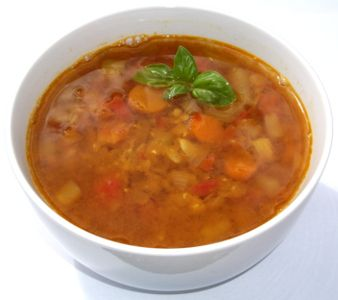 Masoor Dal Vegetable Rasam - Supa de Linte portocalie cu Legume