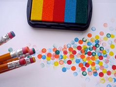 """Worked well!  Many of the 7-8 year old girls in our Girl Scout troop scrubbed the eraser ends on the stamp pads rather than stamping gently, which shredded the inking surface.  So either closely supervise the ctivity and insist kids """"tap or press ONLY"""" or use cheap stamp pads that you don't mind ruining."""