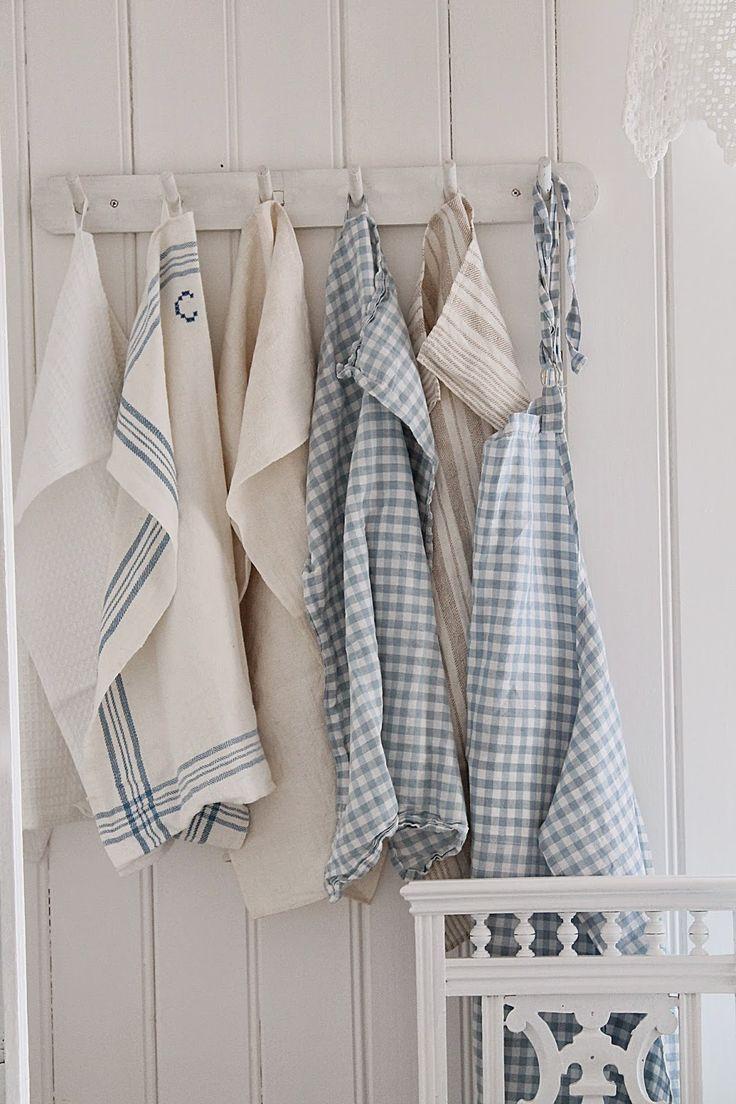 Blue and white kitchen towels - Vibeke Design Spring Colored Blue Towels Blue Towelstea Towelswhite
