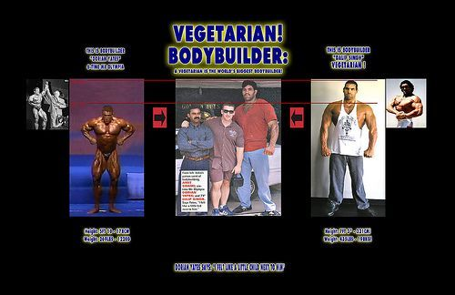 Worlds Largest Bodybuilder Vegetarian - Side-by-Side Comparison with Mr Olympia - RedHeight