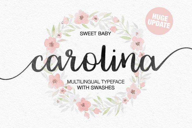 Carolina 2161 handwritten font bundles desain