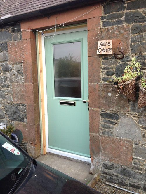 Cottage Half Glazed Composite Front Door In Chartwell