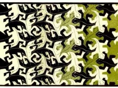 M. C. Escher - Metamorphose II - YouTube