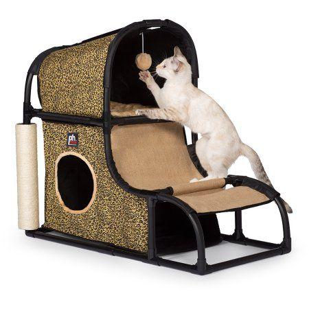 Cat Condo Activity Centre With Cat Wheel