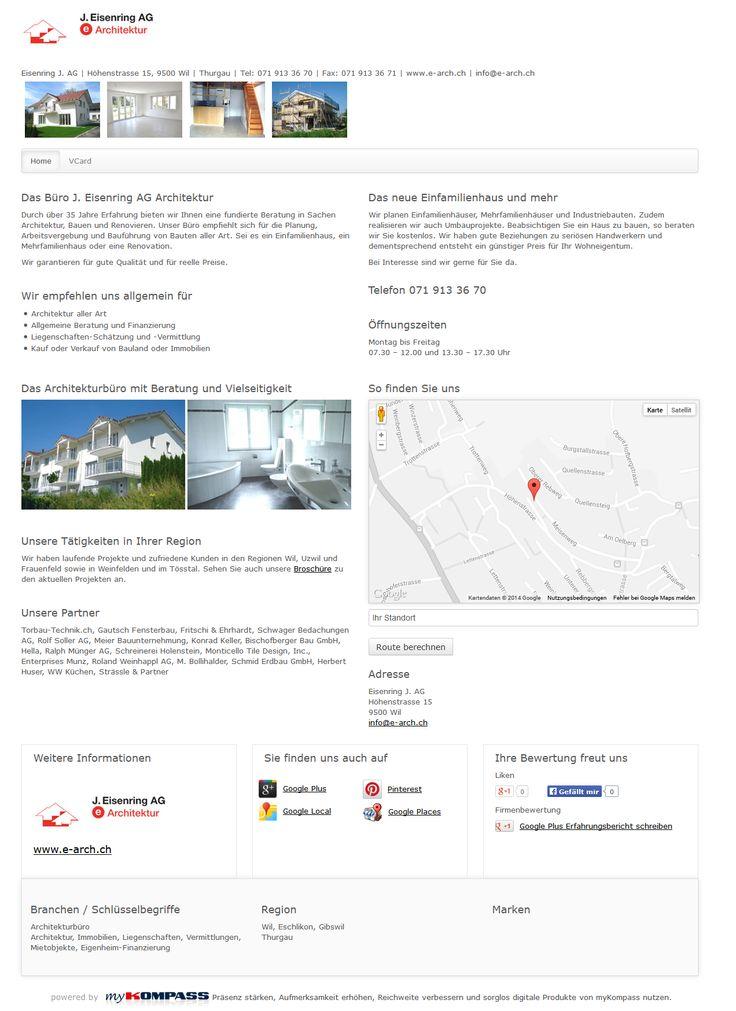 Eisenring J. AG, Wil, Architekturbüro, Immobilien, Liegenschaften
