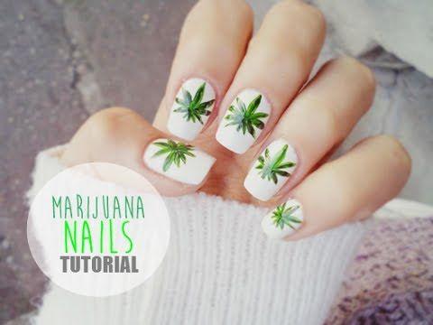 Tutorial Manichiura frunze de marijuana/ Tutorial Marijuana Nails - DBB