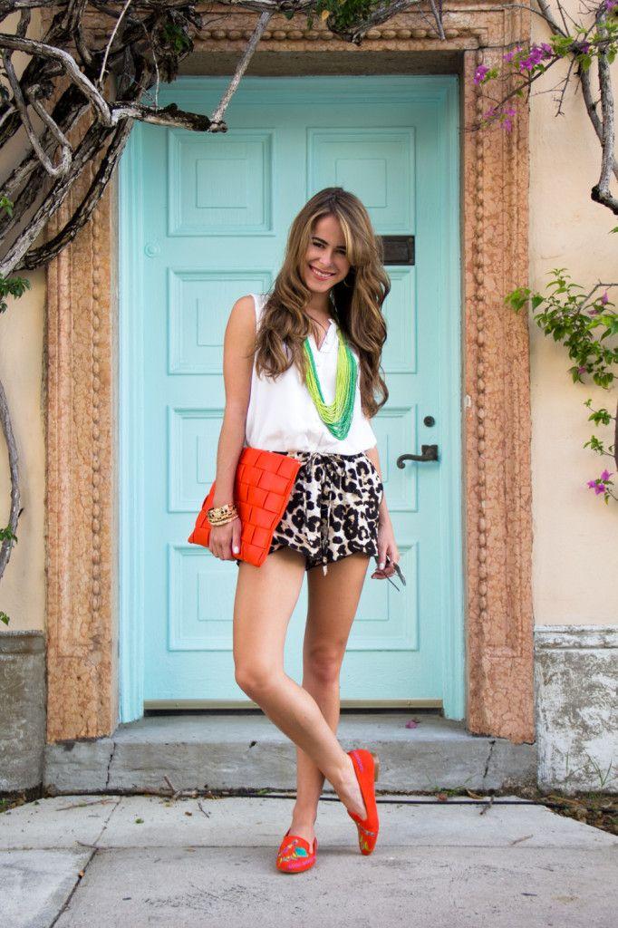 Leopard shorts and orange slippers...  Photo credit: @rainysundesign