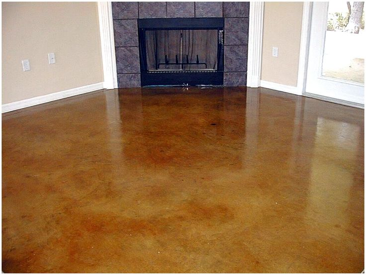Stained Concrete | Acid Stained Concrete Cost To Try In Living Room, Dining  Room And