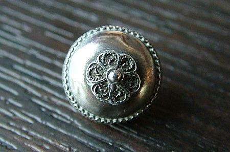 Old silver buttons made in Friesland, the Netherlands, 19th century