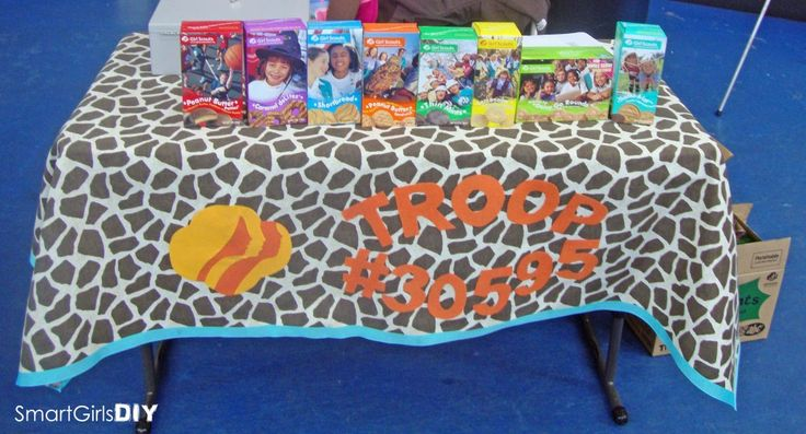 No Sew Girl Scout Cookie Booth Tablecloth